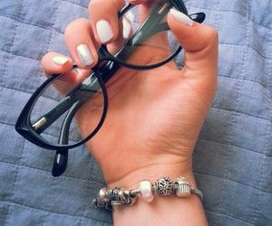 glasses, jewels, and nails image