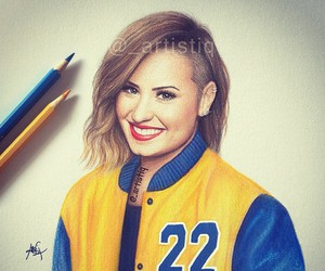 demi lovato, drawing, and art image