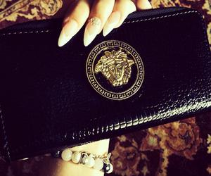 Versace, black, and luxury image