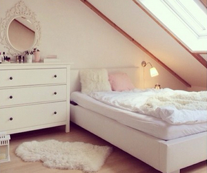 bedroom, pink, and cosy image