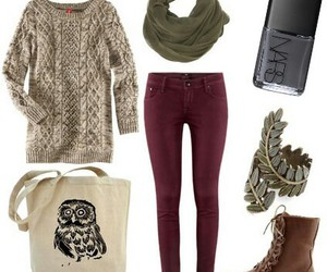 outfit, clothes, and autumn image
