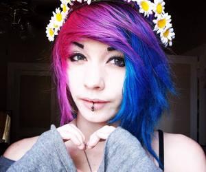 blue hair, pastel goth, and alice asylum image