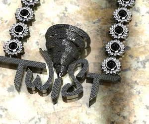 ?, bling, and chain image