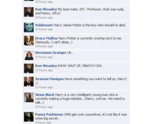 harry potter, facebook, and voldemort image