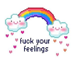 feelings, rainbow, and tumblr image