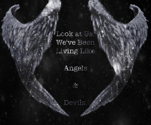 why try, angels, and devils image