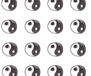 black and white, overlay, and yin yang image
