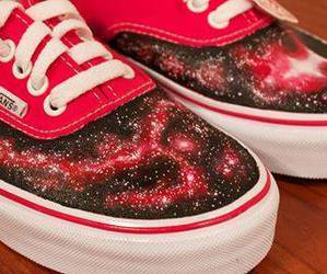 vans, red, and galaxy image