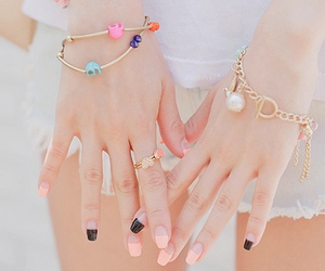 nails, cute, and kfashion image