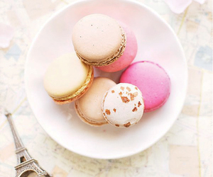 pink, macaroons, and paris image