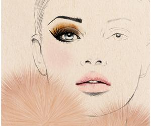 drawing, makeup, and art image