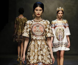 catwalk, Dolce & Gabbana, and dress image