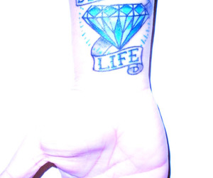 diamond, scroll, and tattoo image