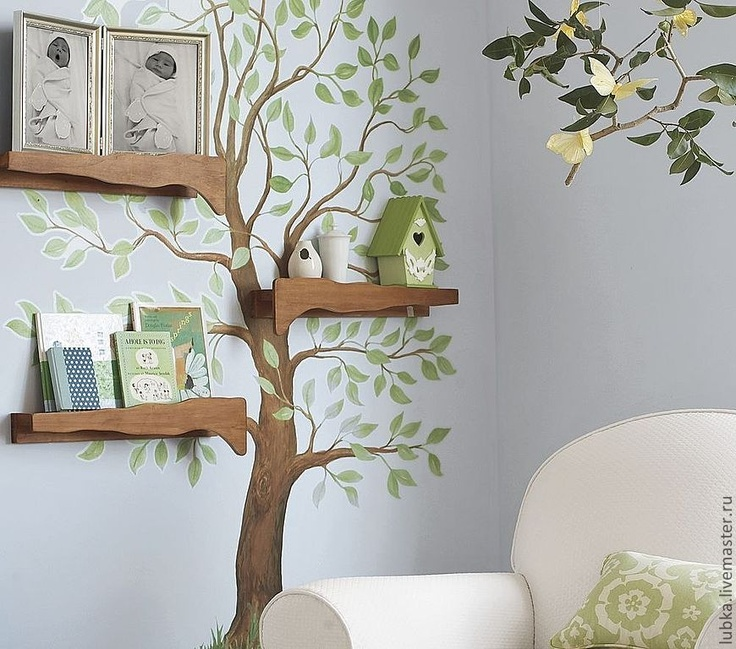 tree, shelf, and room image