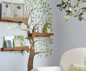 tree, shelf, and room image