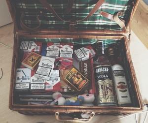 cigarette, alcohol, and marlboro image