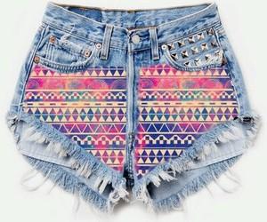 fashion, shorts, and aztec image