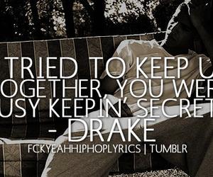Drake, Lyrics, and secrets image