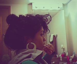 black hair, pretty, and swag image