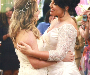 wedding, grey's anatomy, and callie torres image