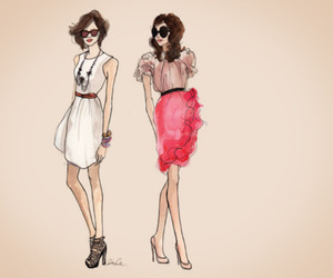 girl, fashion, and drawing image