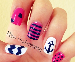 anchor, girl, and hand image