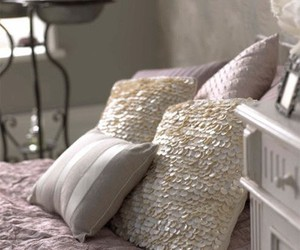 decor, interior, and pillows image