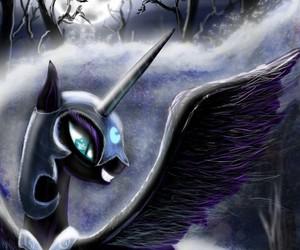night, nightmare moon, and princess luna image