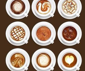 coffee, art, and drink image
