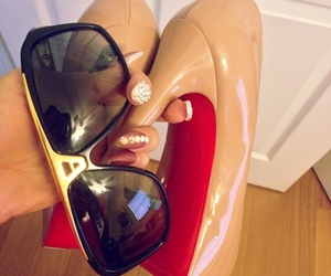 heels, louboutin, and nails image