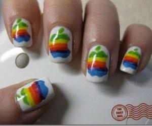 apple and nail art. image