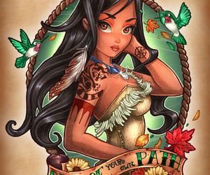 disney, pocahontas, and princesse image