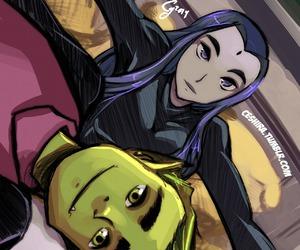 teen titans, raven, and mutano image