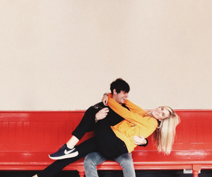 blonde, cheap monday, and couple image