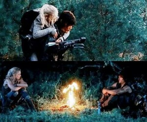 fire, beth, and the walking dead image