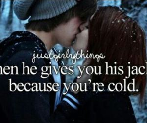 love, cold, and jacket image