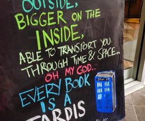 book, tardis, and doctor who image