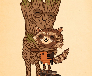 groot, guardians of the galaxy, and rocket image