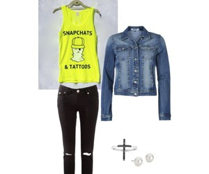 neon, Tattoos, and graphic tank image