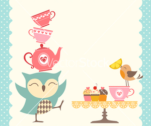 bird, cupcake, and owl image