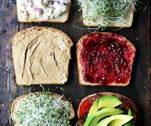 food, bread, and avocado image