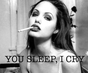 Angelina Jolie, broken, and cigarette image