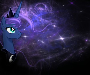 MLP, night, and princess luna image