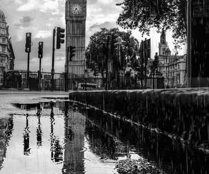 gif, london, and rain image