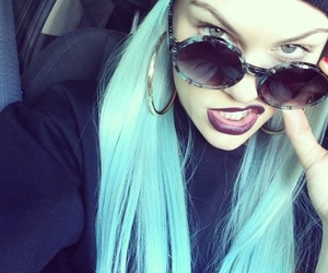 jessie j, hair, and blue image
