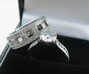 diamond, engagement, and rings image