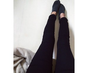 black, black clothes, and legs image