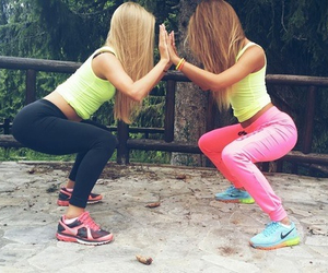 fitness, workout, and friends image