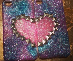 case, heart, and sparkle image