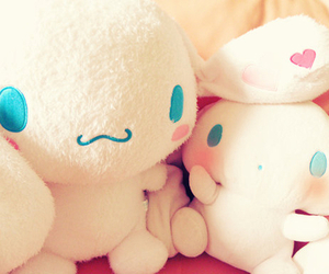 bunnies, pastels, and plush image